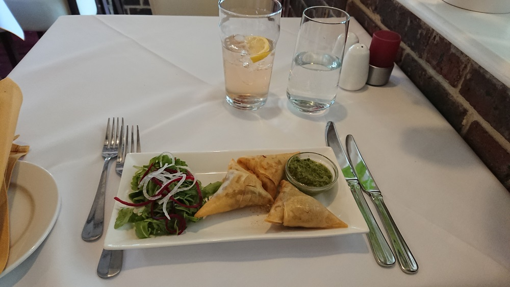 Indian samosas in Chichester