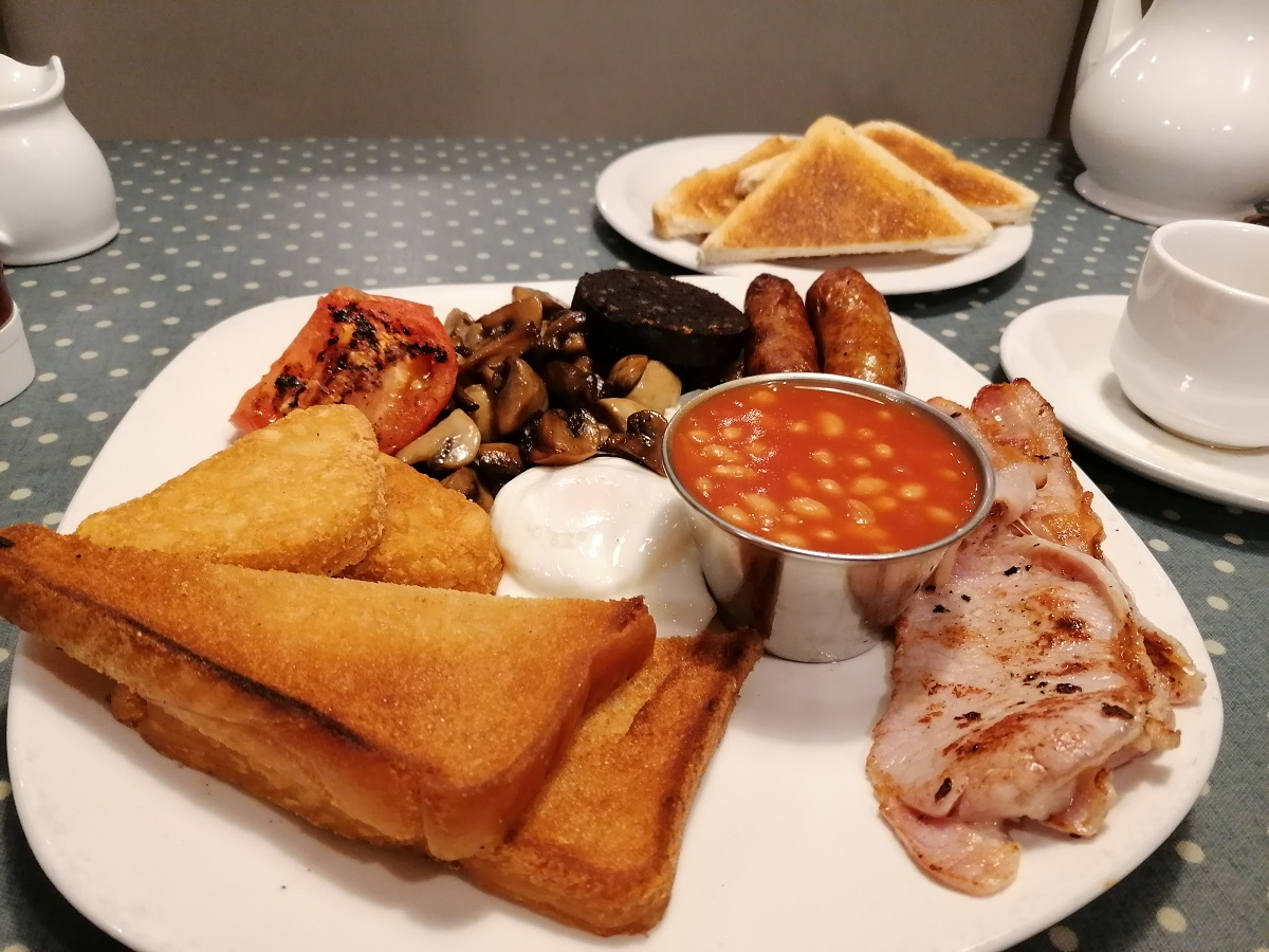 Traditional full English breakfast Selsey, Chichester Harbour