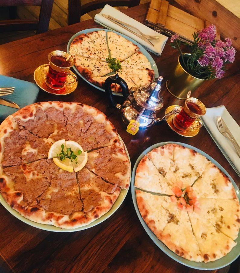 Lebanese breakfast dishes Portsmouth Hampshire Zaatar manoushe